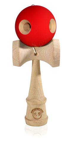 5 Hole Standard Eclipse Kendama - Rubber Red