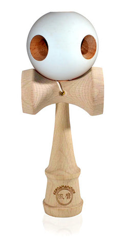 5 Hole Standard Eclipse Kendama - Rubber White