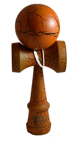 Jumbo Eclipse Kendama - Brown and Black Full Cracked Matte