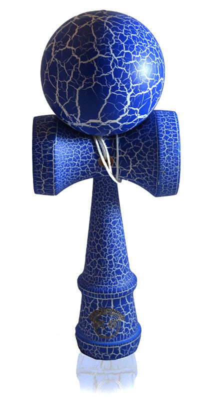 Jumbo Eclipse Kendama - Blue and White Full Cracked Matte