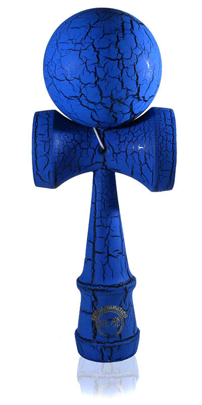 Jumbo Eclipse Kendama - Blue and Black Full Cracked
