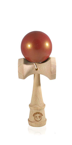 Micro Eclipse Kendama  - Red Golden Metallic