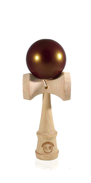 Micro Eclipse Kendama  - Purple Golden Metallic