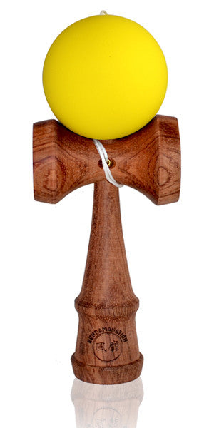 Standard Eclipse Kendama - Yellow Rubber Cherry Wood