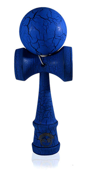 Standard Eclipse Kendama - Blue and Black Full Cracked