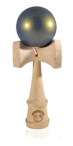 Standard Eclipse Kendama - Blue Golden Metallic