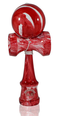 Standard Eclipse Kendama - Red Fire Glossy Marble