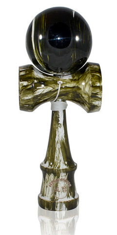 Standard Eclipse Kendama - Green Moss Glossy Marble