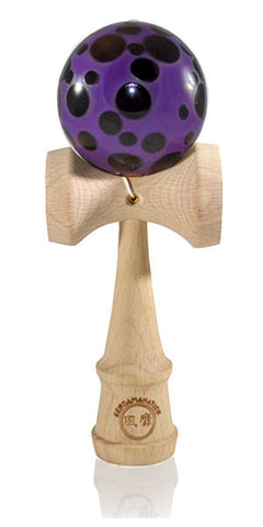 Standard Eclipse Kendama Spottie - Black and Purple