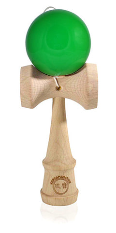 Standard Eclipse Kendama - Maple Wood Solid Glossy Green