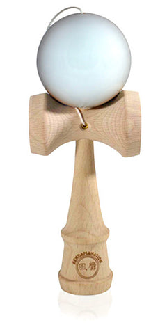 Standard Eclipse Kendama - Maple Wood Solid Glossy White