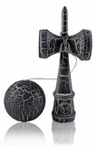 Jumbo Eclipse Kendama - Black and White Full Cracked
