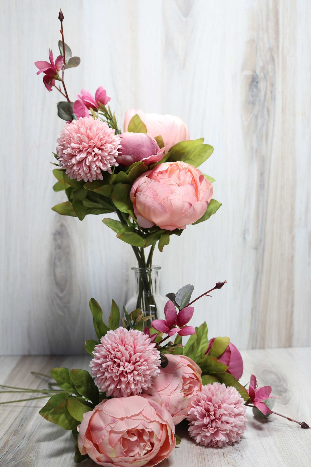 Dandelion And Peony Bunch - Vintage Pink