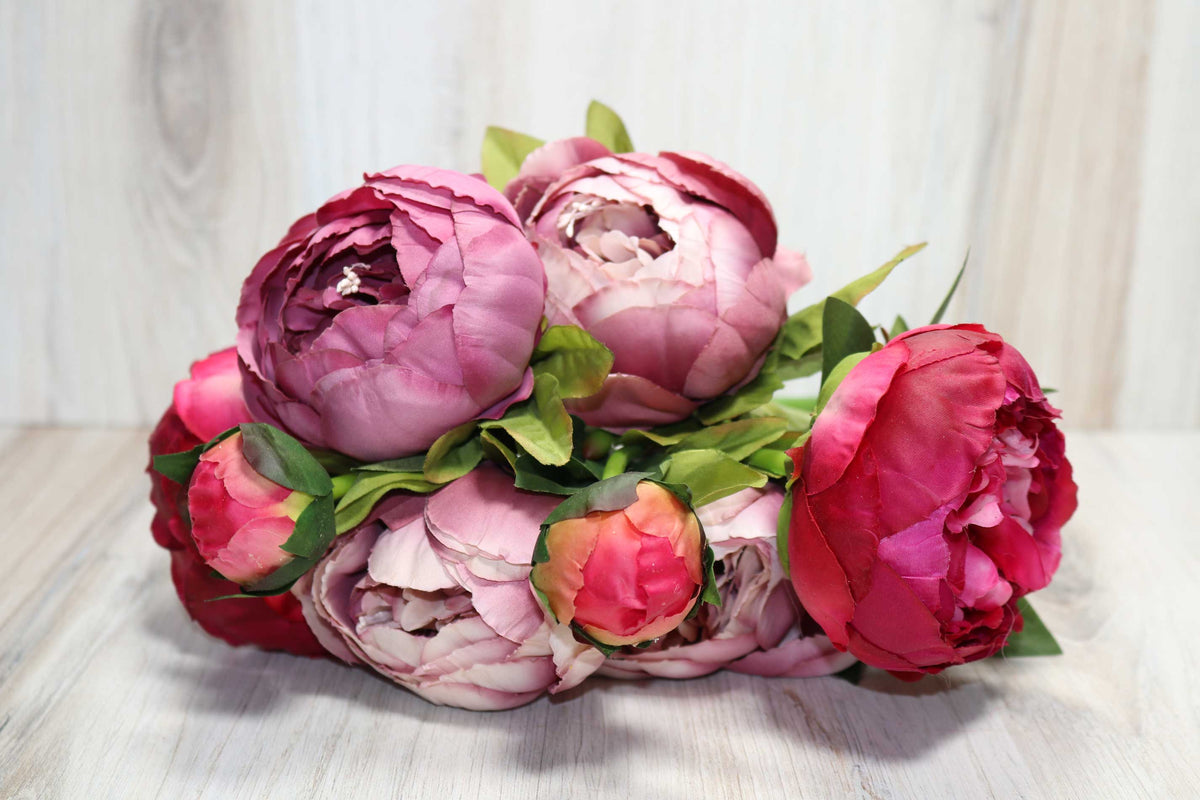Large Peony Bunch - Cranberry Mauve