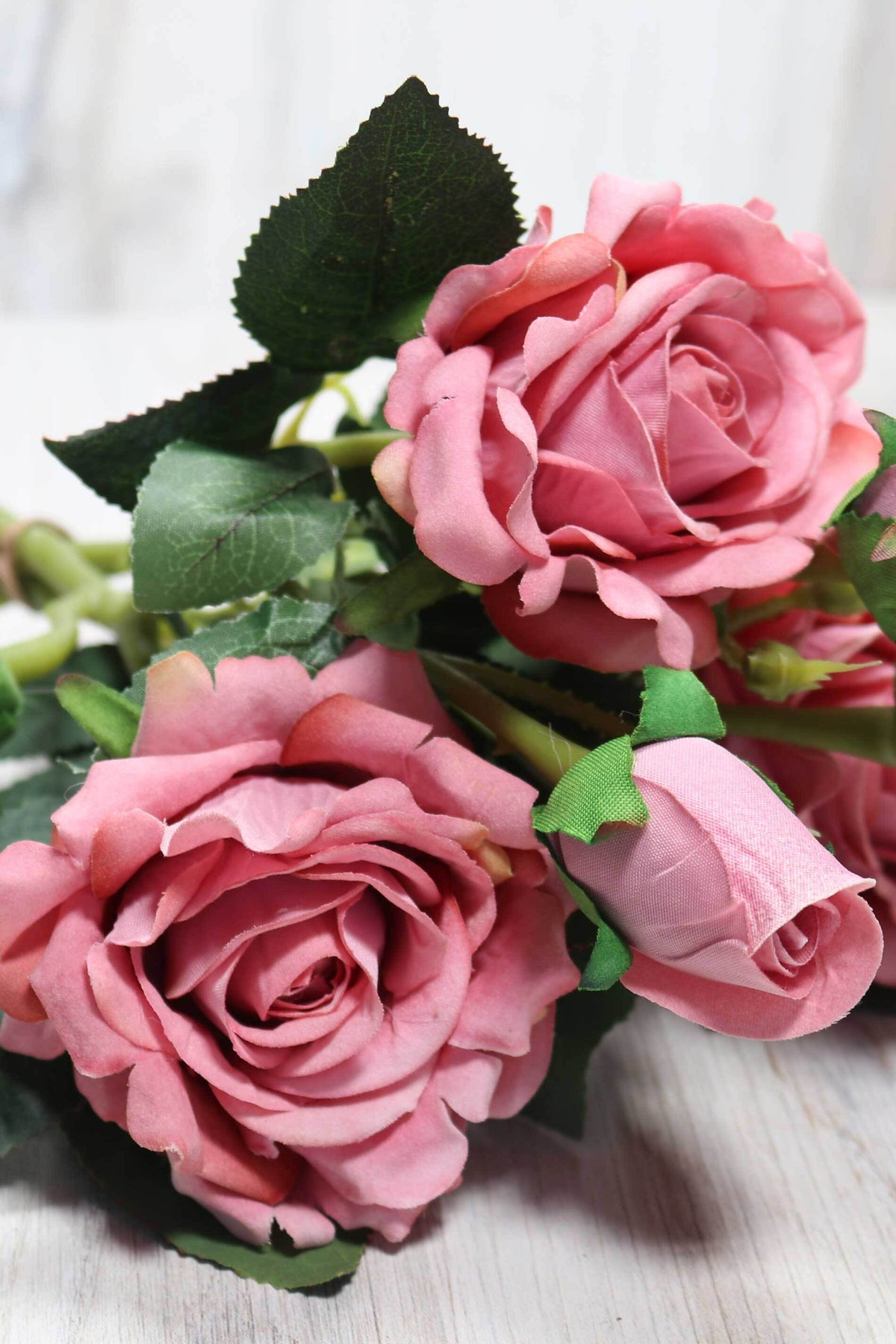 Three Stem Rose Bunch - Dusty Rose