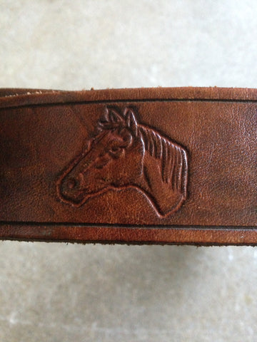 Horse Head Genuine Leather Belt