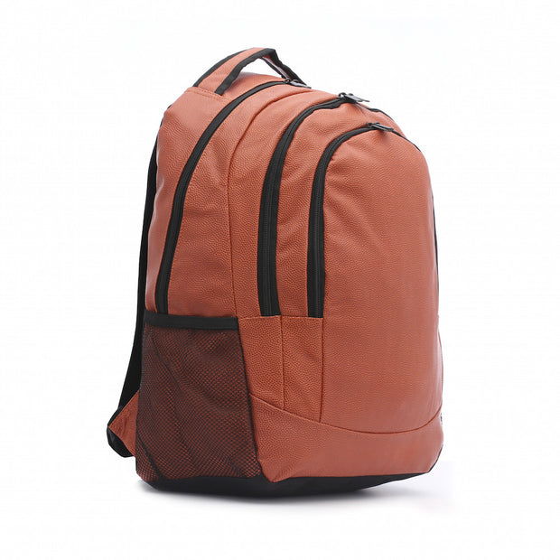 orange basketball leather backpack
