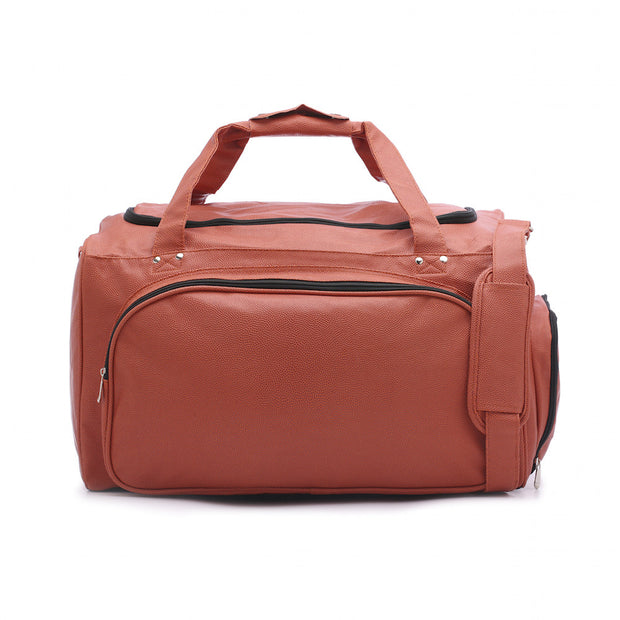 basketball leather material duffle bag
