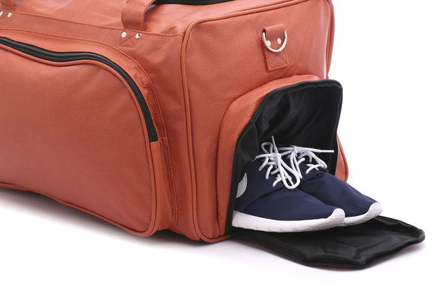 basketball duffel bag with shoe compartment