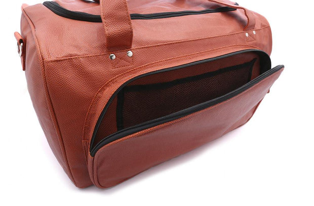 basketball duffel bag with separate pockets