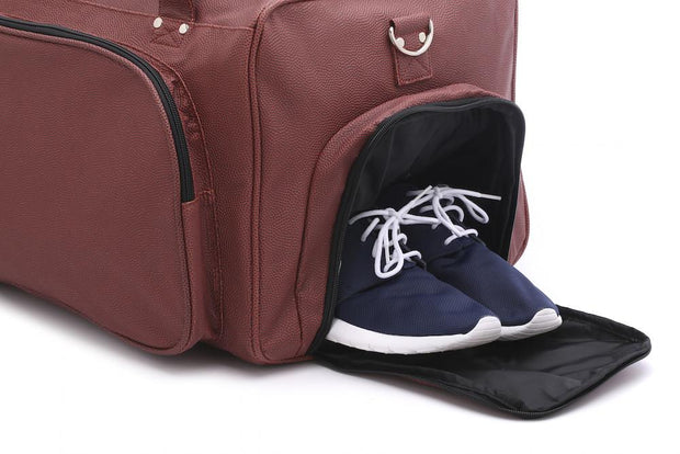 football duffel bag shoe compartment