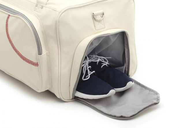 baseball duffel bag with shoe compartment