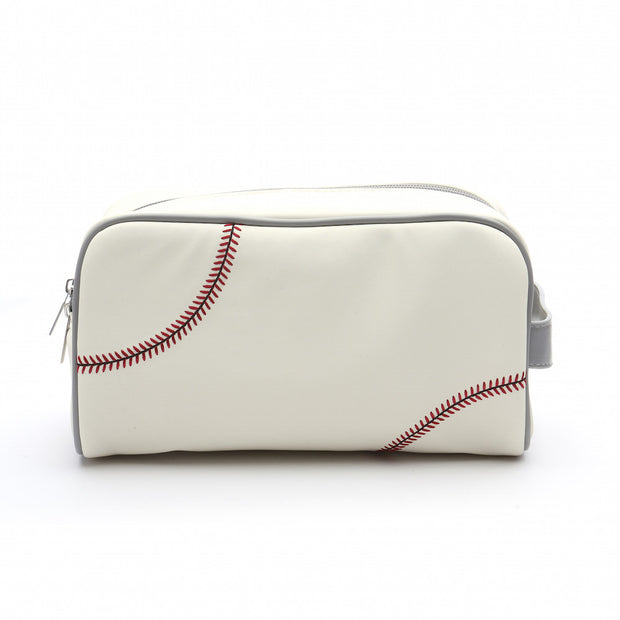 baseball leather toiletry bag