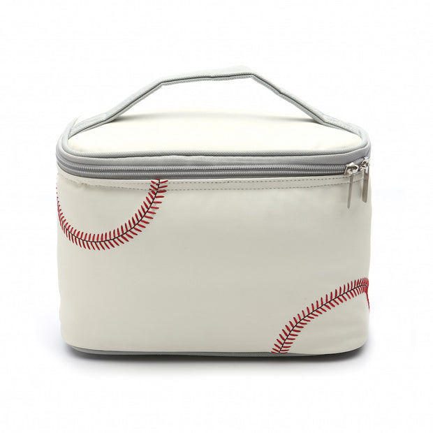 baseball insulated lunch box made from ball material