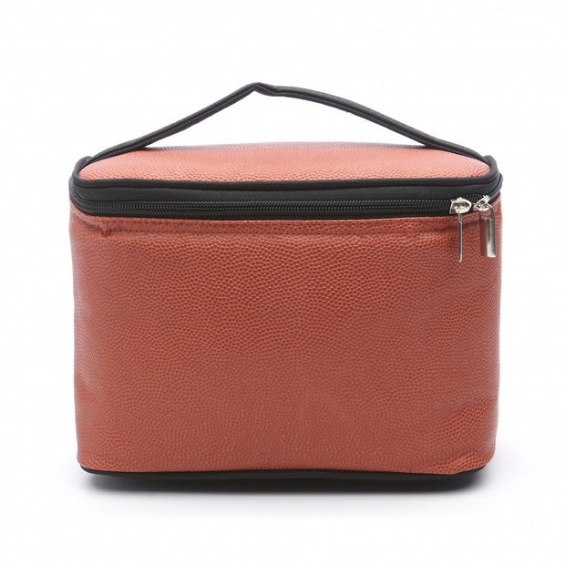 basketball leather insulated lunch box