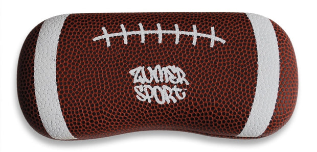 football leather eyeglasses case