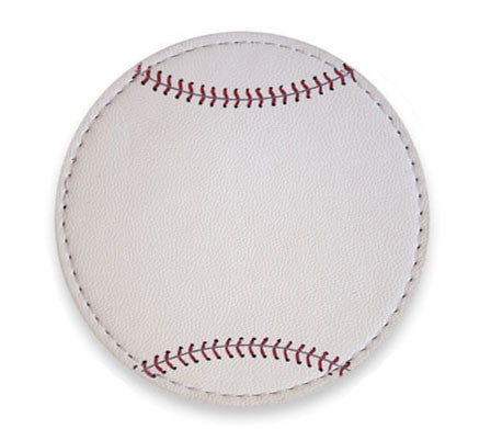 Coaster Made From Actual Baseball Material
