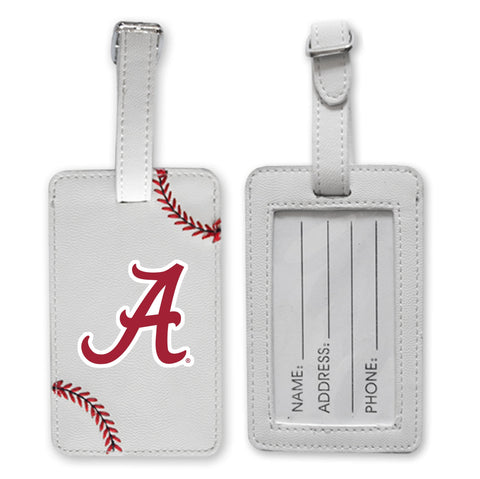 Alabama Crimson Tide Baseball Luggage Tag
