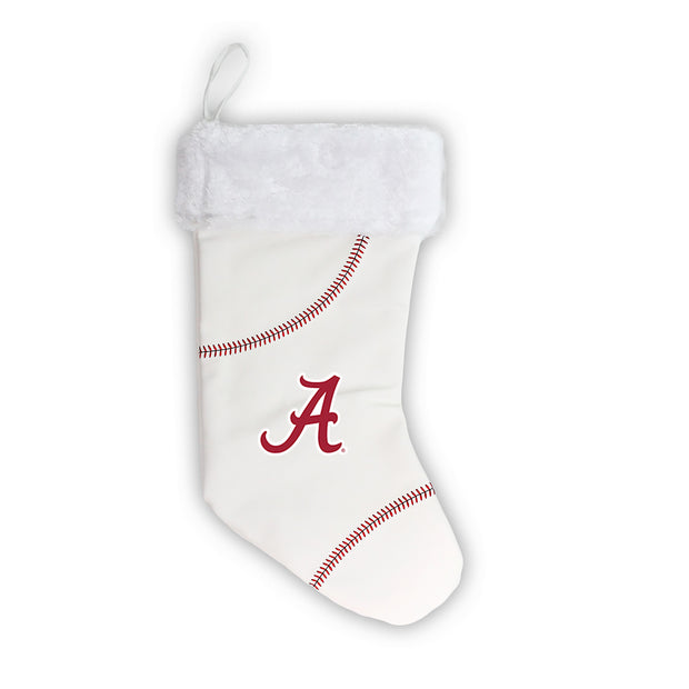 "Alabama Crimson Tide 18"" Baseball Christmas Stocking"