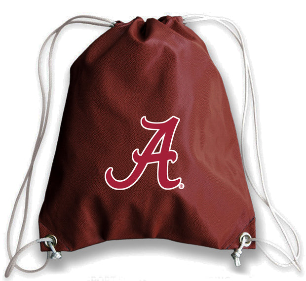 Alabama Crimson Tide Football Drawstring Bag