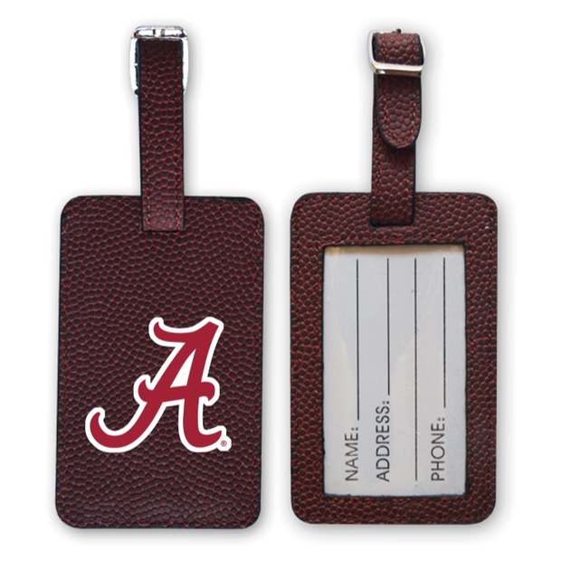 Alabama Crimson Tide Football Luggage Tag