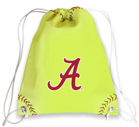 Alabama Crimson Tide Softball Drawstring Bag