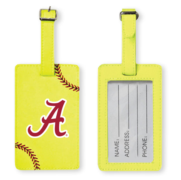 Alabama Crimson Tide Softball Luggage Tag