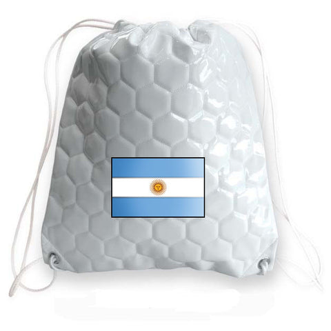 Argentina National Pride Soccer Drawstring Bag