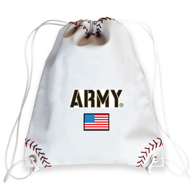 Army USA Baseball Drawstring Bag