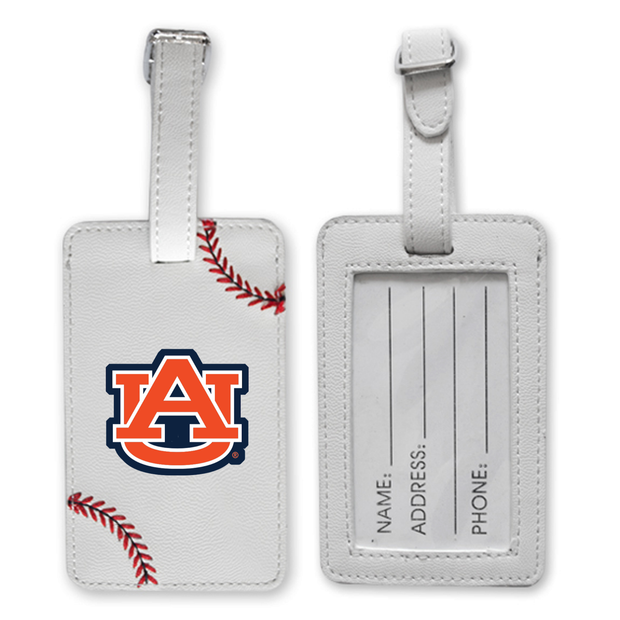 Auburn Tigers Baseball Luggage Tag