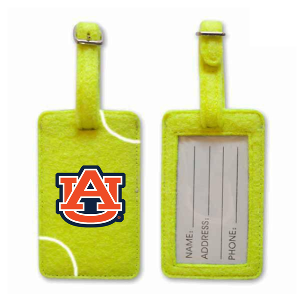 Auburn Tigers Tennis Luggage Tag