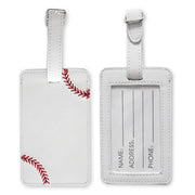 Baseball Leather Luggage Tags