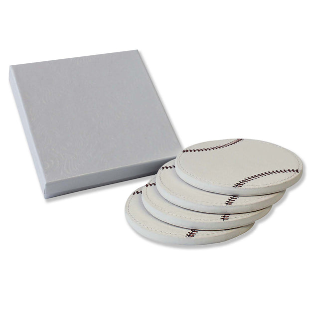 baseball coaster gift set for fans