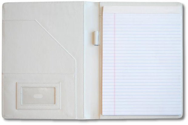 baseball coach gift portfolio with notepad