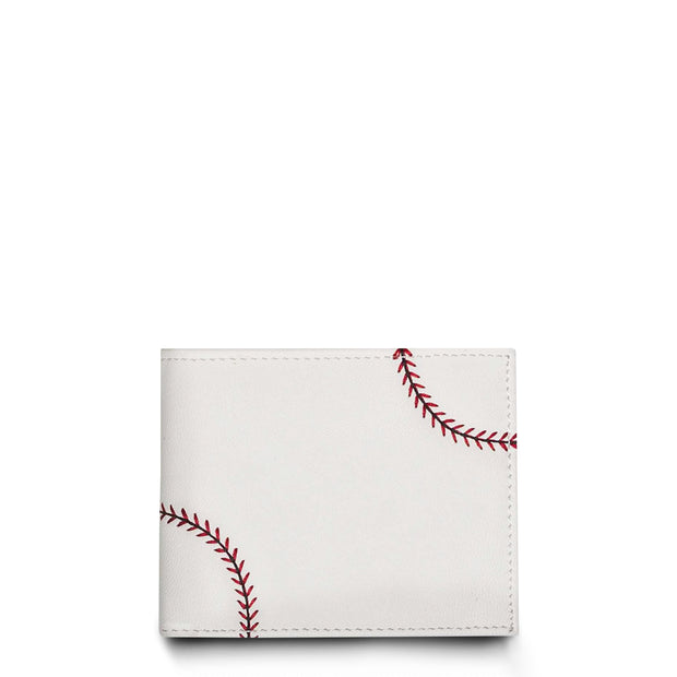 wallet made from baseball material