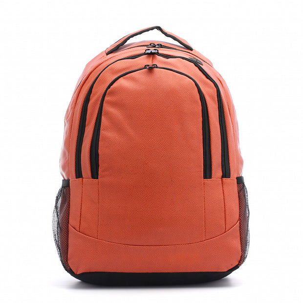 backpack made from real basketball leather