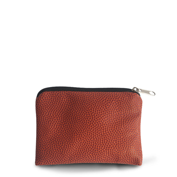 basketball leather coin pouch