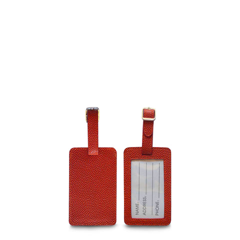 luggage tags made from basketball material