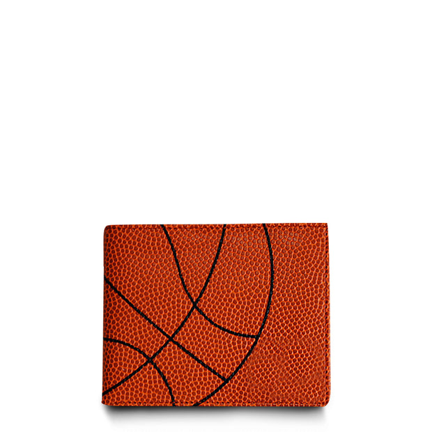 wallet made from basketball leather material
