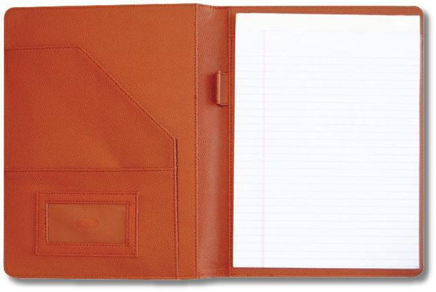 basketball leather coach's gift portfolio with notepad
